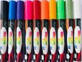 Krijtstiften - raamstiften - krijtmarkers - raamtekenstiften- glasstiften - porseleinstiften - set van 10 Stiften - 6mm punt