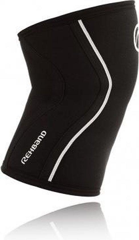 Rehband Knee Sleeve RX Black 5 mm-Maat S: 33 - 35 cm - Rehband