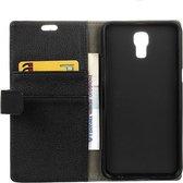 Litchi cover wallet case hoesje LG X screen zwart