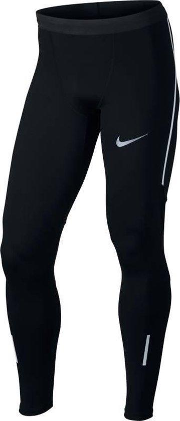 Nike Power Tech Tight Sportlegging Heren - Black/(Reflective Silv)