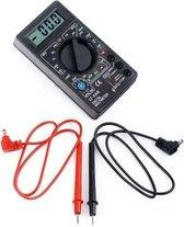 Professionele Digitale Multimeter Inclusief Stroomkabels en Batterij - CAT 1 | Elektra Meetapparatuur | Spanningsmeter | Multimeters | Meetkabels