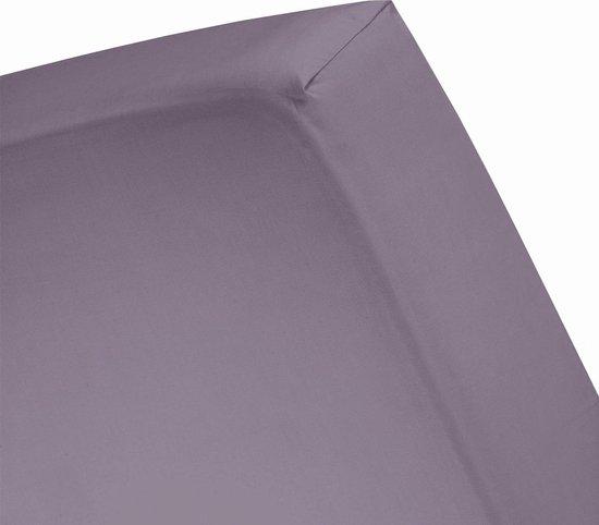 Damai - Hoeslaken hoge hoek (tot 35 cm) - Katoen - 140 x 200 cm - Purple