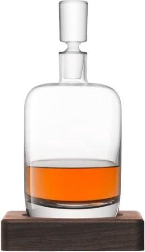 L.S.A. Renfrew Decanteerkaraf -  1.1 liter - Incl. Walnoten Onderzetter
