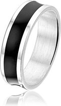 Montebello Ring Scirpus - Unisex - Staal - Acryl - 6 mm - Maat 54 - 17.2