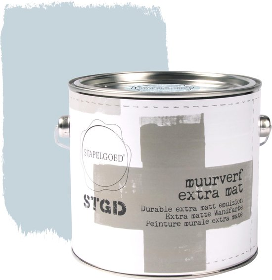 Stapelgoed - Muurverf extra mat - Skyblue - Blauw - 2,5L