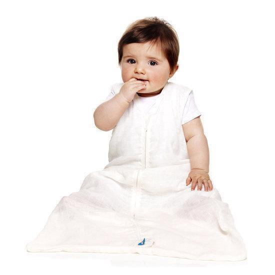 Wallaboo Baby slaapzak zomer - dun lichtgewicht katoen, geschikt voor 6 tot 12 maanden, Maat 68/80, Ideaal voor de zomer, Crème - Wallaboo