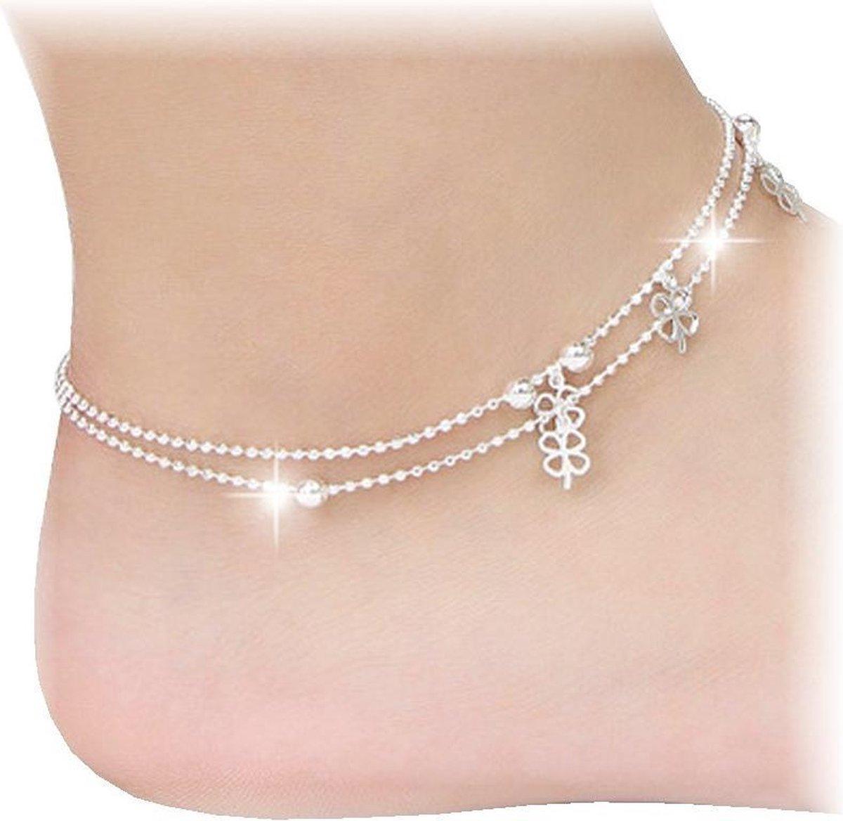 Fako Bijoux® - Enkelbandje - Klavertjes Vier - Fako Bijoux®