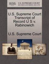 U.S. Supreme Court Transcript of Record U S V. Rabinowich