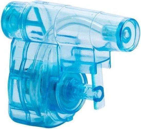 Mini waterpistolen blauw 10 stuks