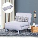 Luxe Logeer Klapbed - Slaapsofa - Opklapbaar Logeerbed - Uitklapbare Slaapstoel Bed Voor Gasten - Opklapbed - Slaapfauteuil - Eenpersoons - Grijs