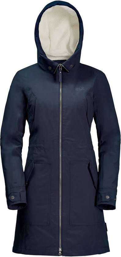 Jack Wolfskin Rocky Point Parka Dames Outdoor Jas Midnight Blue Maat M
