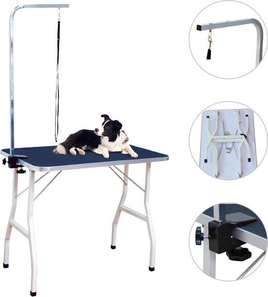 Professionele Inklapbare Honden Trimtafel Met In Hoogte Verstelbare Aanlijnoptie - Opvouwbare Honden & Katten Trim Tafel -