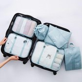 Packing cubes set Koffer of tas organizer Inpak zakken - lichtblauw deluxe