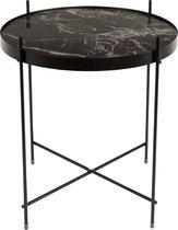 Zuiver Side Table Cupid Marble Bijzettafel - 43 cm - Zwart