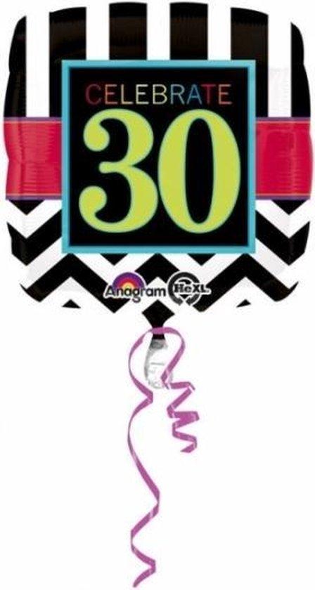 Folie ballon 30 jaar 43 cm - 30ste verjaardag Helium ballon