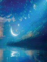 Ramadan Kareem with Crescent Moon & Stars
