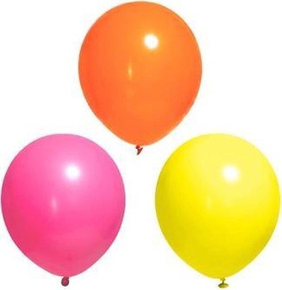Neon multi ballonnen 10 stuks