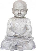 Beeld monnik mediterend 41 cm