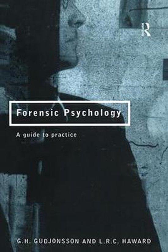 Boek cover Forensic Psychology van G.H. Gudjonsson (Paperback)