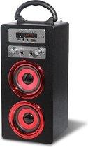 Pure acoustics MCP20BLRD - Portable karaoke systeem met bluetooth, USB, SD en FM radio - zwart