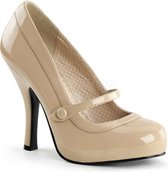 Pin Up Couture Pumps -38 Shoes- CUTIEPIE-02 US 8 Creme