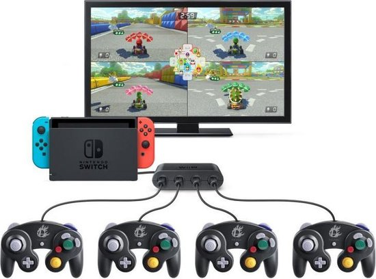 GameCube USB Controller Adapter voor Wii U, Nintendo Switch & PC