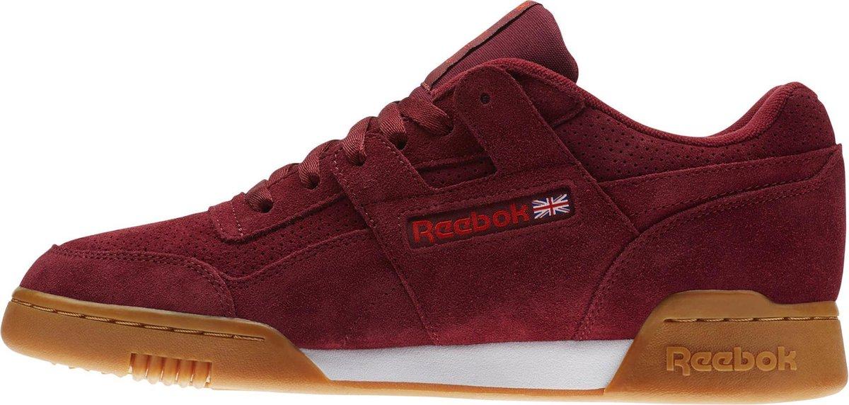 Reebok Workout Plus MU/SPG Sneakers Heren - Collegiate Burgundy/Carotene/White/Gum - Reebok