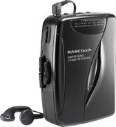 Draagbare cassettespeler met radio en oordopjes Basetech KW-118C