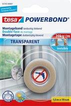 Tesa Montagetape Dubbelzijdig - Transparant - 1,5 m x 19 mm