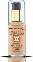 Max Factor Facefinity All Day Flawless 3-in-1 Liquid Foundation - 065 Rose Beige