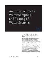 An Introduction to Water Sampling and Testing of Water Systems