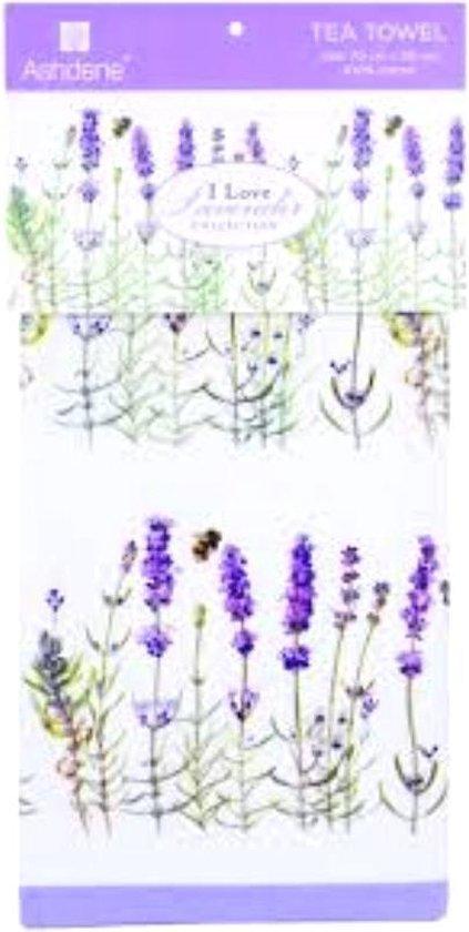 Ashende lavendel theedoek keukendoek thema cadeaus kado natuur Frankrijk liefhebber