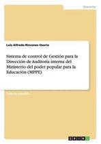 Sistema de control de Gestion para la Direccion de Auditoria interna del Ministerio del poder popular para la Educacion (MPPE)