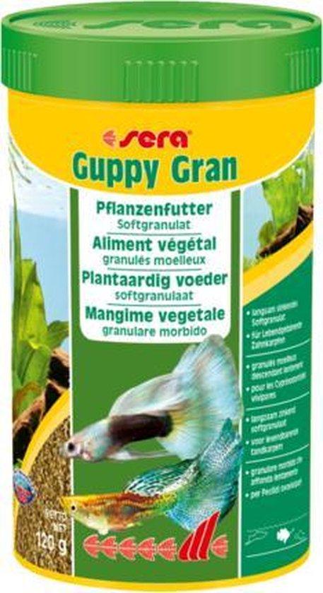 Sera Guppy gran 250 ml langzaam zinkend plantaardig voer