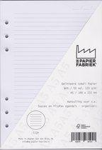 Aanvulling Lijn (Smal)120g/m²  Wit Notitiepapier voor A5 Succes, Filofax of Kalpa   Organizers 100 Pag
