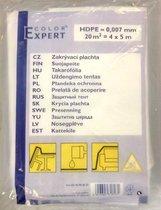 Afdekfolie 1 stuk transparant - 4x5m - 7mu