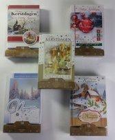 100 stuks: Luxe Kerstkaart en Nieuwjaarskaart met envelop | 16.5x11.5cm | 10 pakjes | Serie J-J