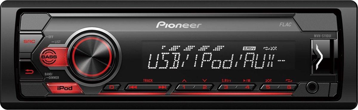 Pioneer  MVH-S110UI Autoradio Enkel din Rood-USB - 4 x 50 W