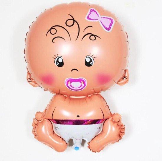 Helium 30 inch extra groot Geboorte Cadeau Meisje\ jongen - Babyshower Versiering - Baby Shower Folie Balonnen -
