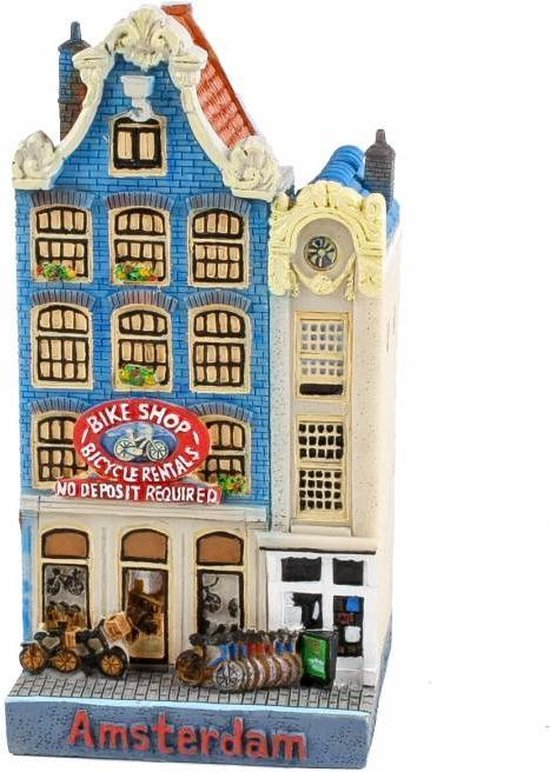 Amsterdams grachtenhuisje - fiets verhuur - Kloveniersburgwal 26 & 28 -12 cm