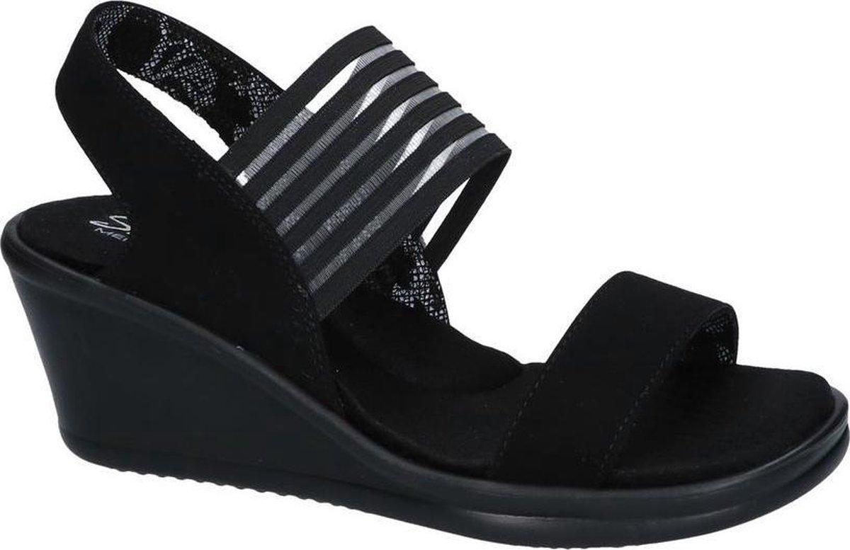 Skechers Rumblers Sci-Fi dames sleehak sandalen - Zwart - Maat 38 - Extra comfort - Memory Foam