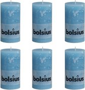 Bolsius Rustiek Stompkaars - 130/68 mm - 6 stuks - Aqua