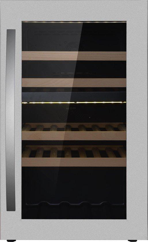 Koelkast: Wine Klima Excellence D40T Wijnkoelkast - 42 flessen, van het merk Wine Klima