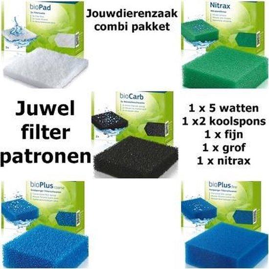 Juwel filterpatronen set compact 5 soorten