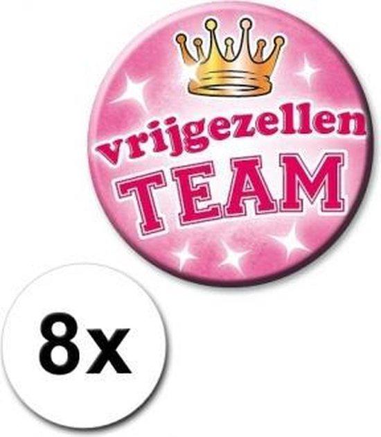 8 roze vrijgezellen buttons