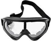 Skibril - Snowboardbril - UV Beschermend - Verstelbare Ski/Snowboard bril - Unisex - Transparant glas