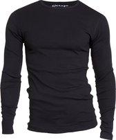 Garage 303 - T-shirt 1-pack Semi Body Fit Long Sleeve R-Hals Zwart - L