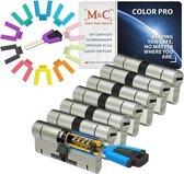 M&C Color PRO set van 7 cilinders 32/32 en 8 sleutels SKG3