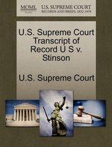 U.S. Supreme Court Transcript of Record U S V. Stinson
