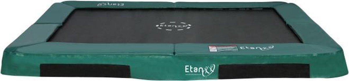 Trampoline Etan Inground Hi-Flyer - 310 x 232 cm - Groen - Rechthoekig - Zeer veilig - Hoog springcomfort - Rechthoek